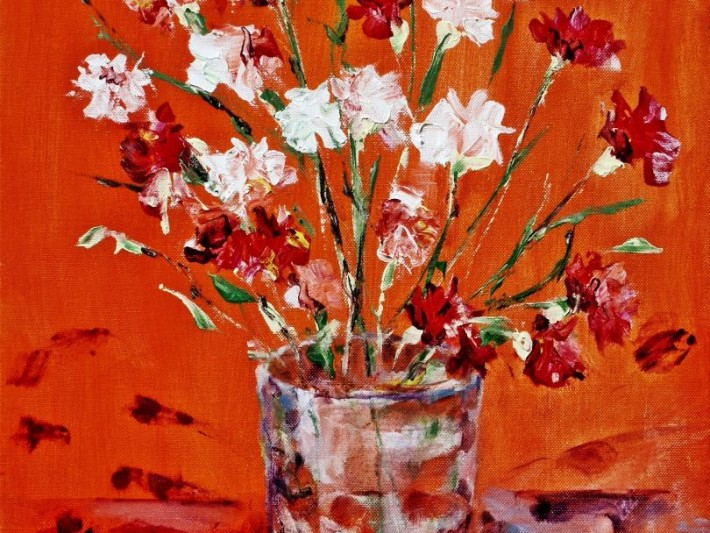 Pinks in Orange - Janeanne Griffin